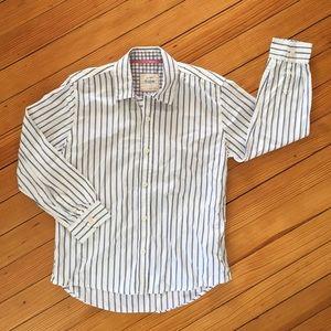 🆕 Mini Boden White & Blue Striped Oxford Shirt